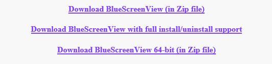 bluscreenview