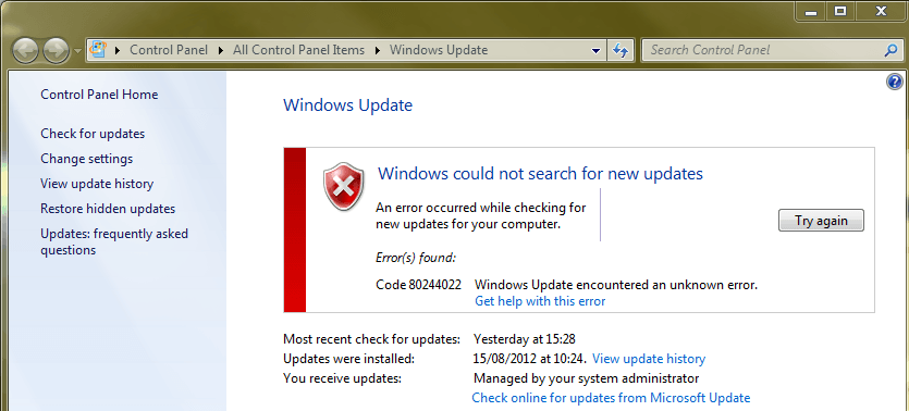 Windows Server 2012 Windows update errore 8024402C - IT